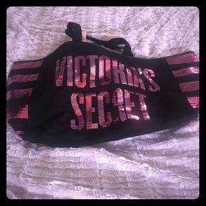 Victoria's Secret black bag with pink sequins